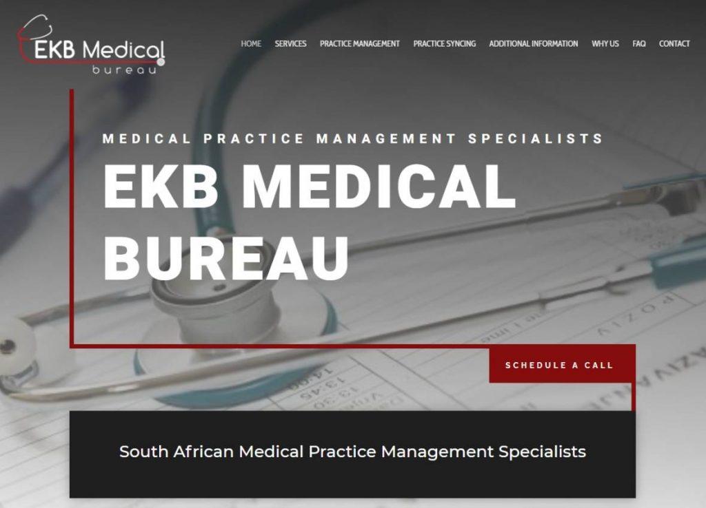 EKB Medical Bureau website designed by Vividly Grand